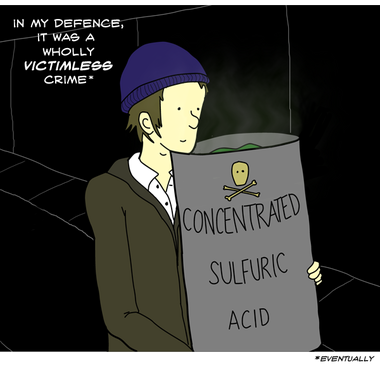 In researching for this comic I googled ''Can bodies be dissolved in acid'' and similar. I worry that if someone does disappear in the Oxford area in the next few weeks I'm going to be suspect no. 1.