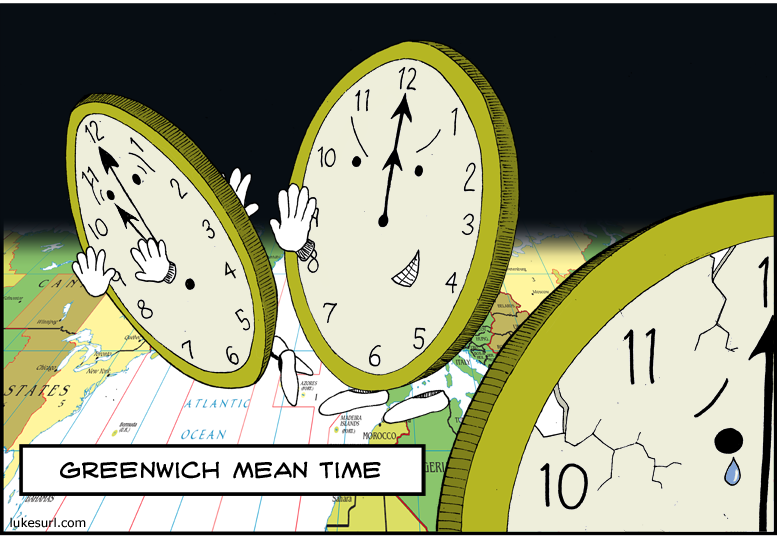 Daylight saving actually occurs when GMT comes and knocks the living daylights out of the more wussy time zones