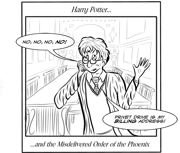 Sorry for the lack of realism, I know his iPhone wouldn't get any signal A) because of the magic in the air at Hogwarts B) because it's an iPhone