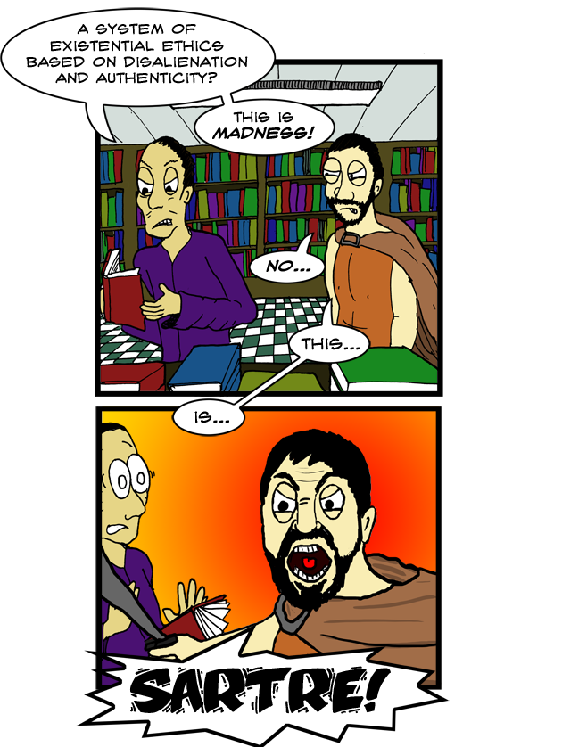 I'm sorry the background in panel 2 is rather... /spartan/