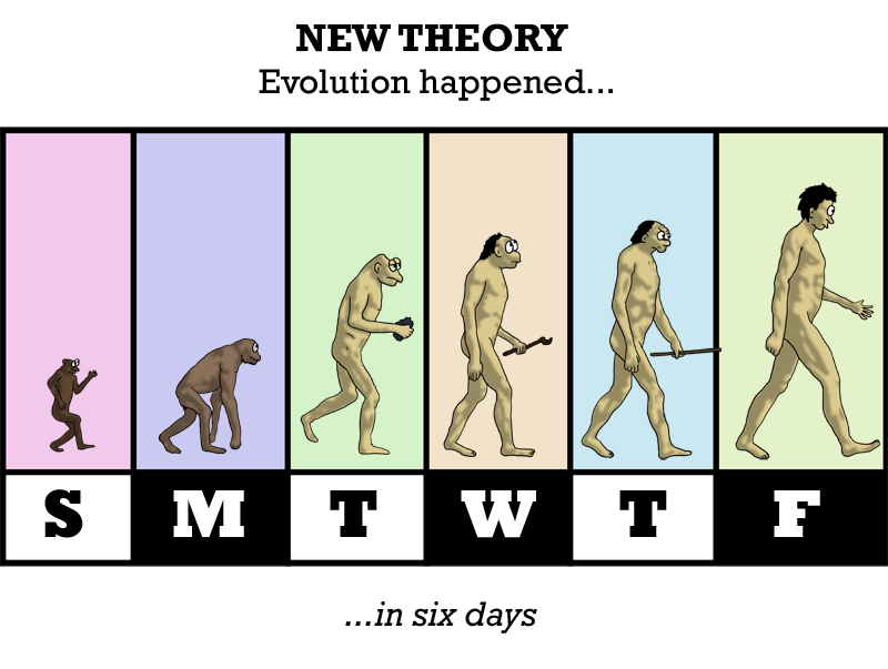 OK, OK, how about this one: it was all intelligently designed -- by Charles Darwin