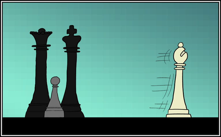 Sexism is rampant in chess. Queens are treated as pieces of.. uh, actually just as pieces.